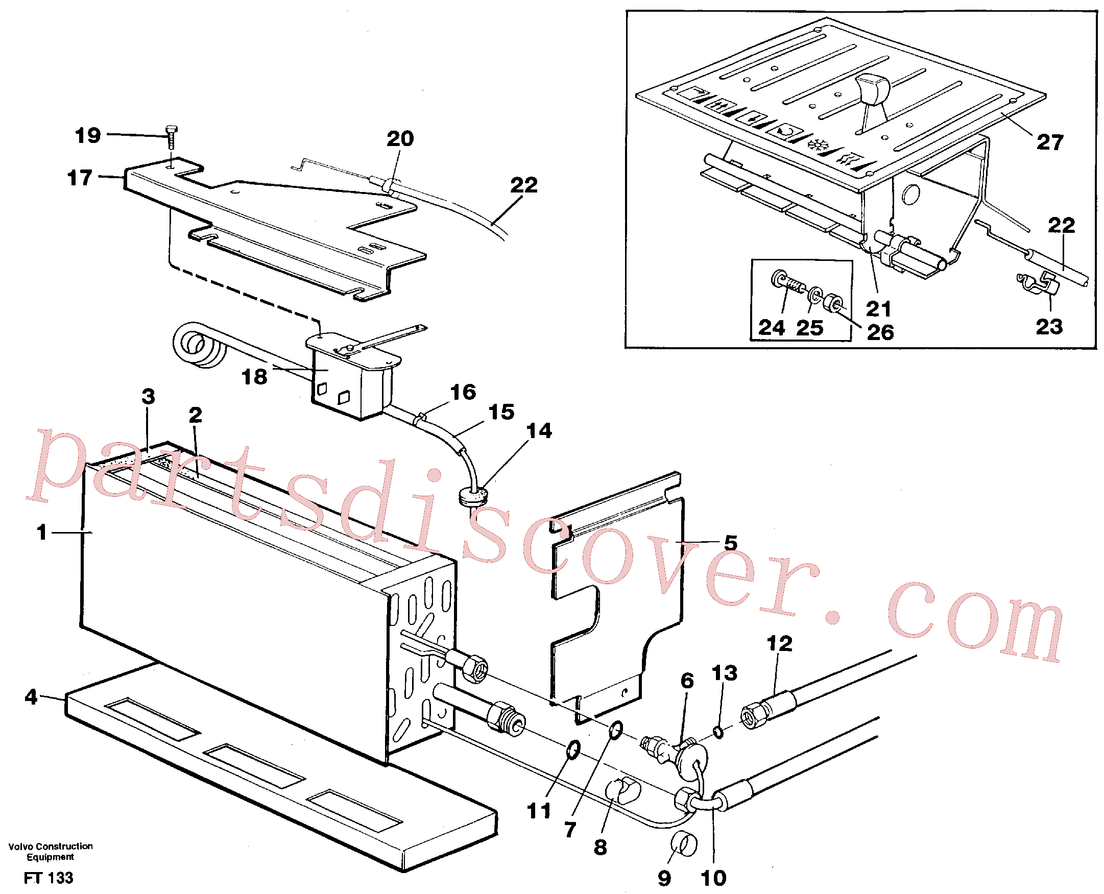 VOE14247154 for Volvo Evaporator with fitting parts, cooling agent R134a(FT133 assembly)
