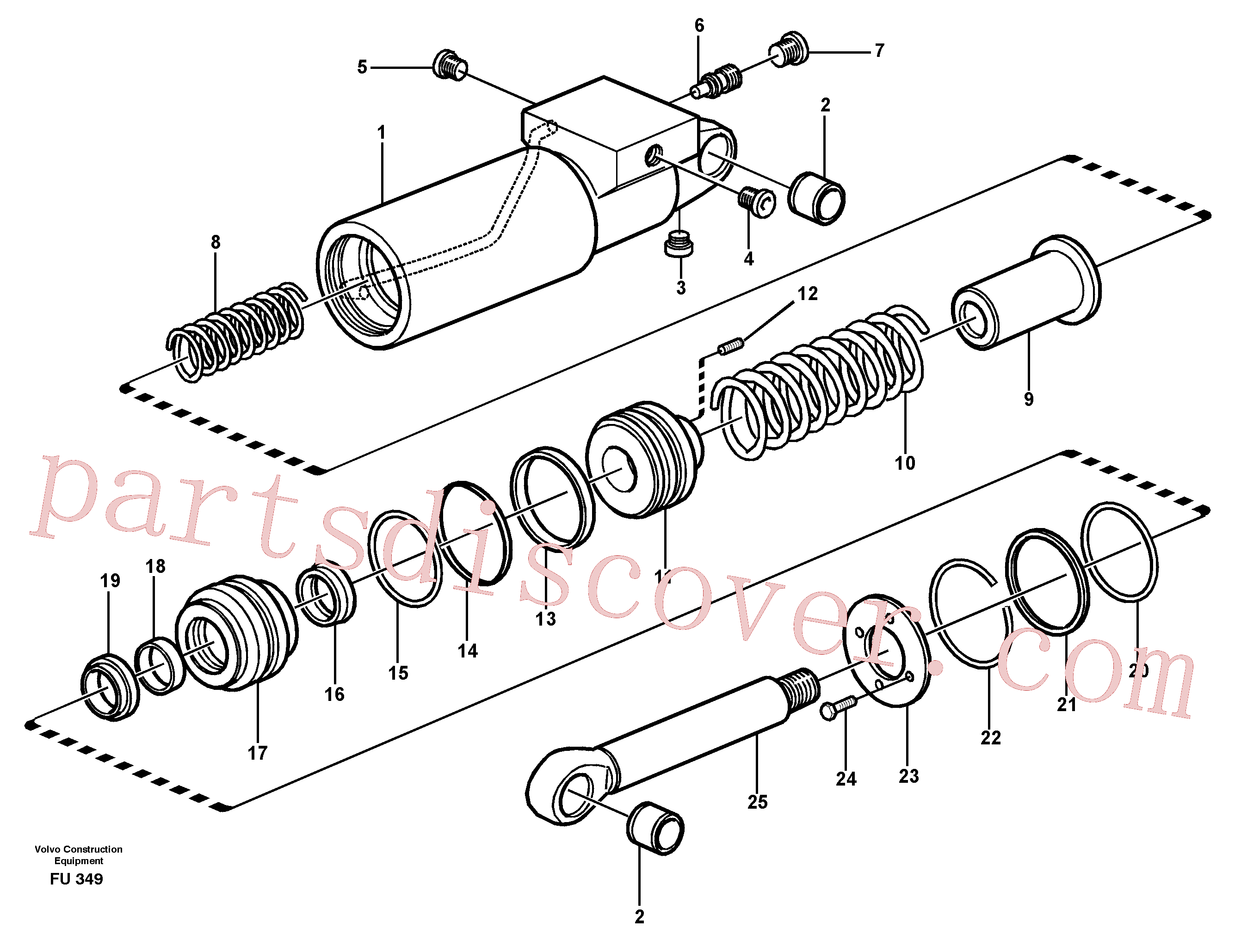 VOE14024363 for Volvo Hydraulic cylinder(FU349 assembly)