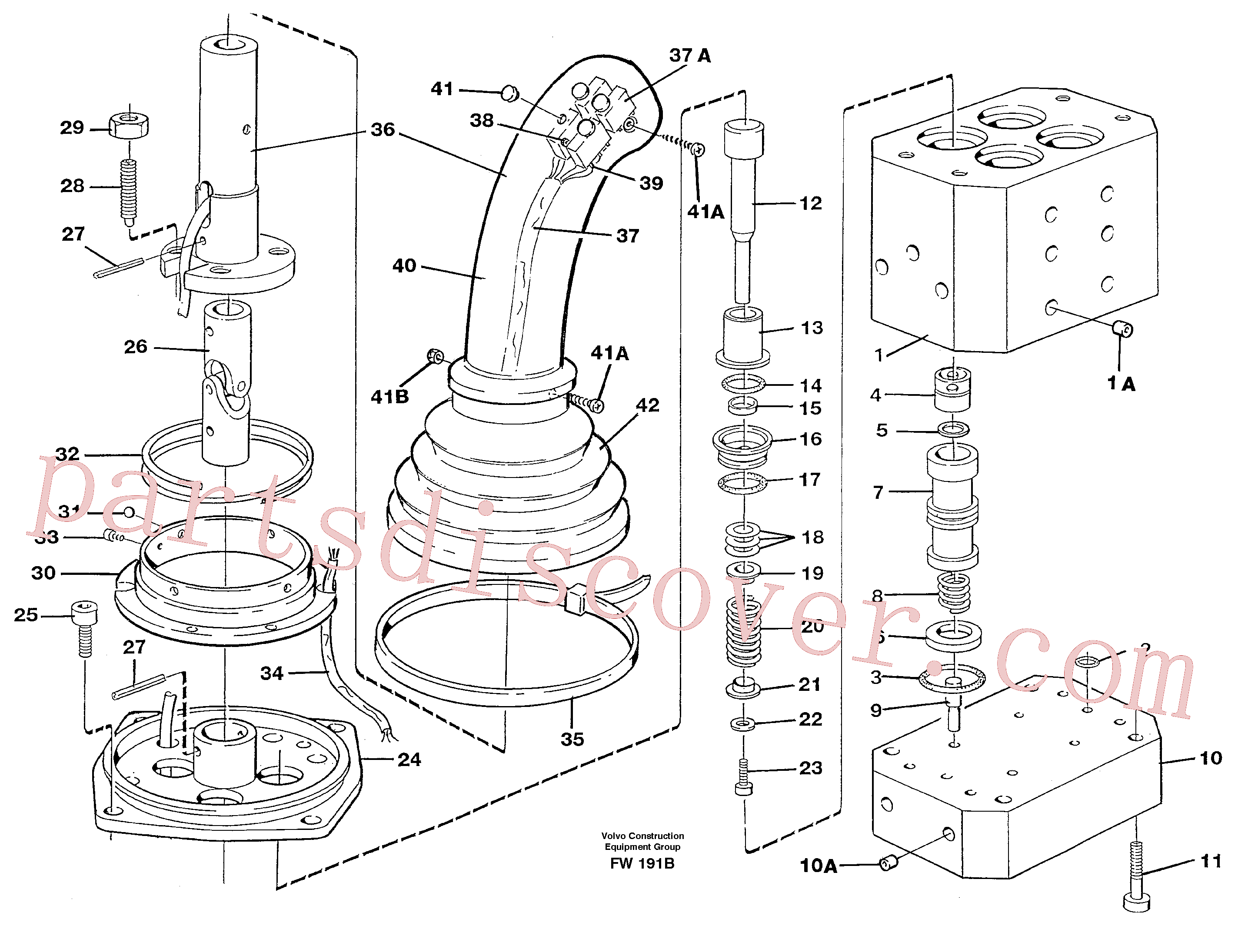 VOE14012251 for Volvo Control pressure valve(FW191B assembly)