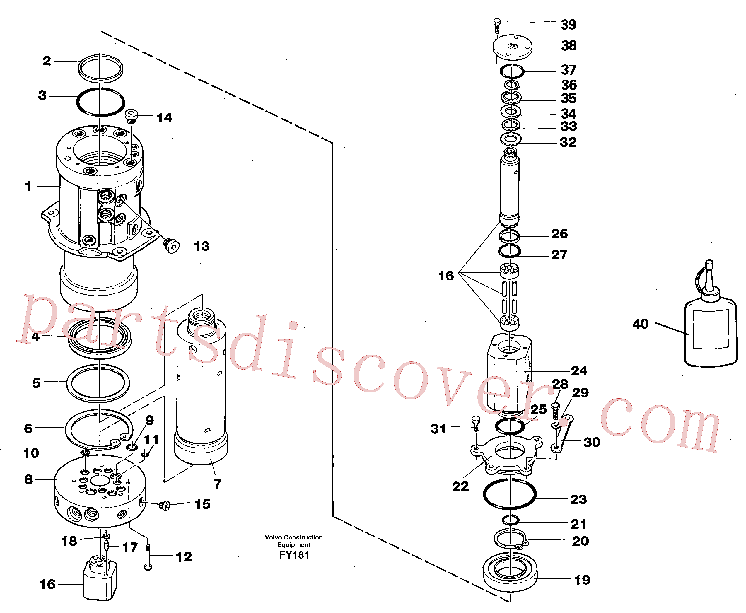 VOE914478 for Volvo Turning joint(FY181 assembly)