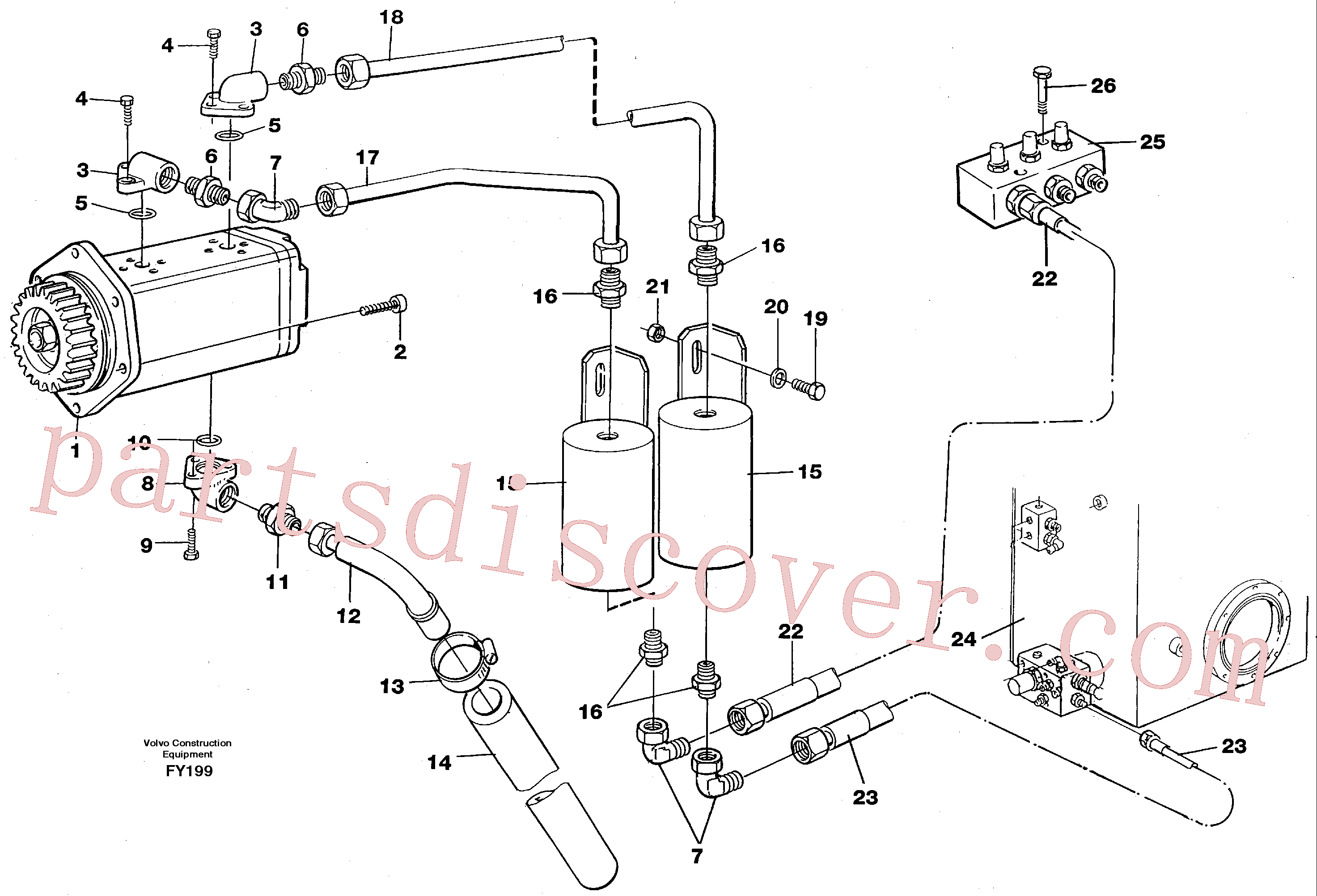 VOE14239434 for Volvo Servo pump(FY199 assembly)