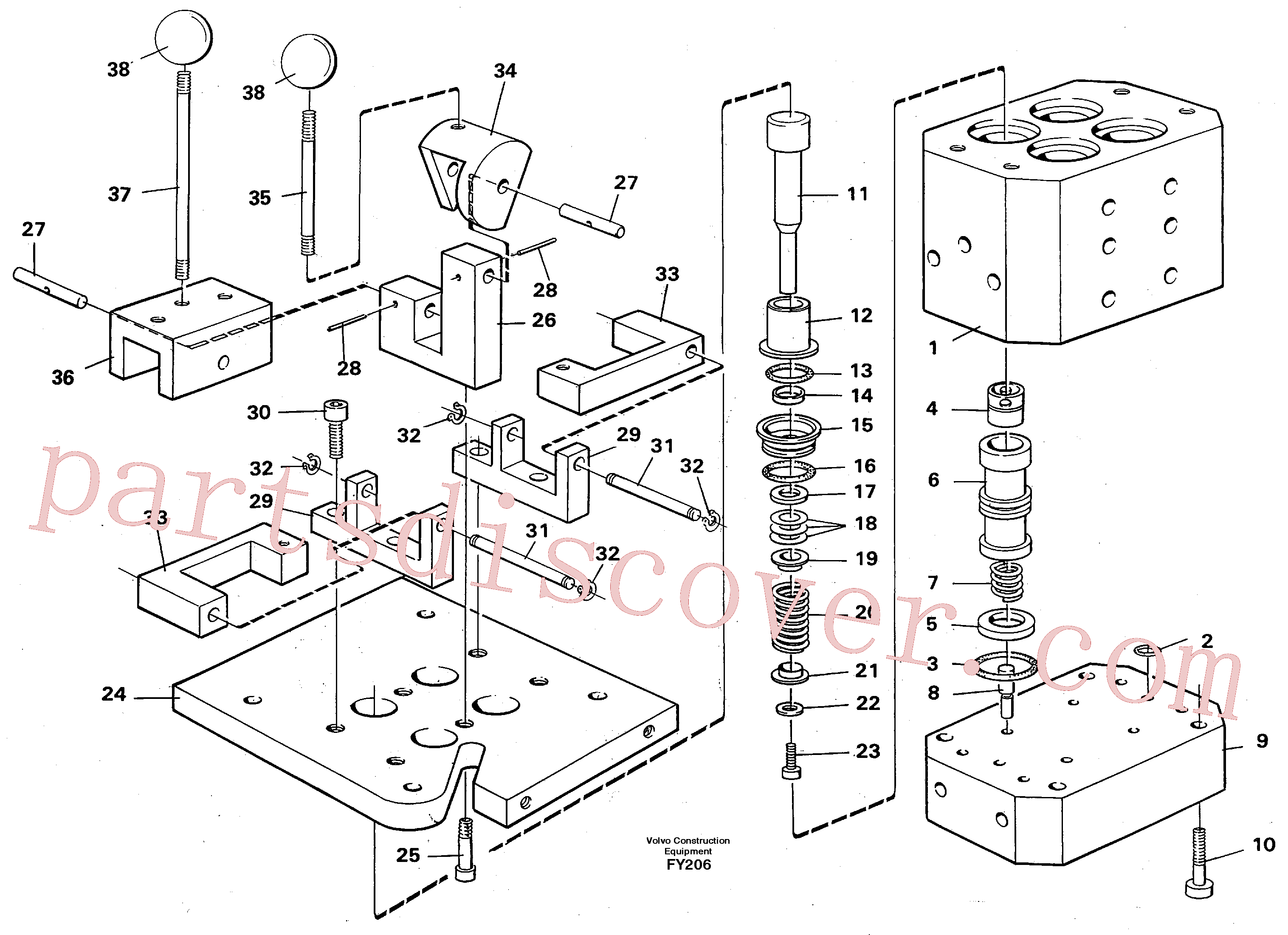 VOE14012251 for Volvo Control pressure valve(FY206 assembly)