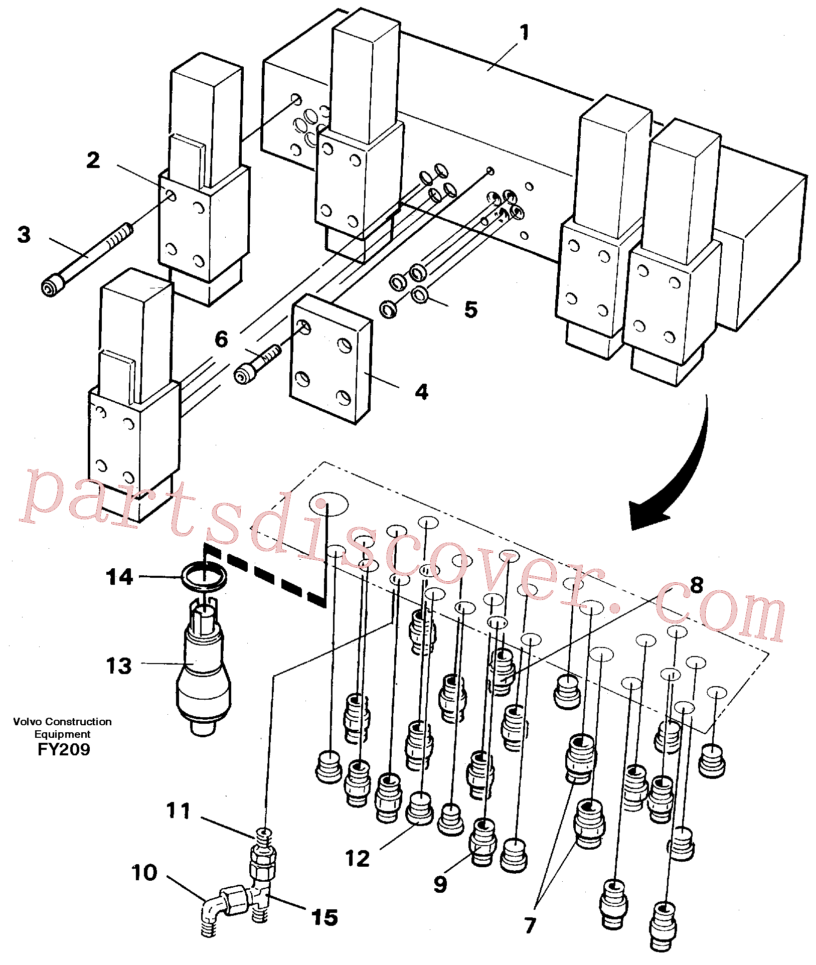VOE11716048 for Volvo Valve body(FY209 assembly)