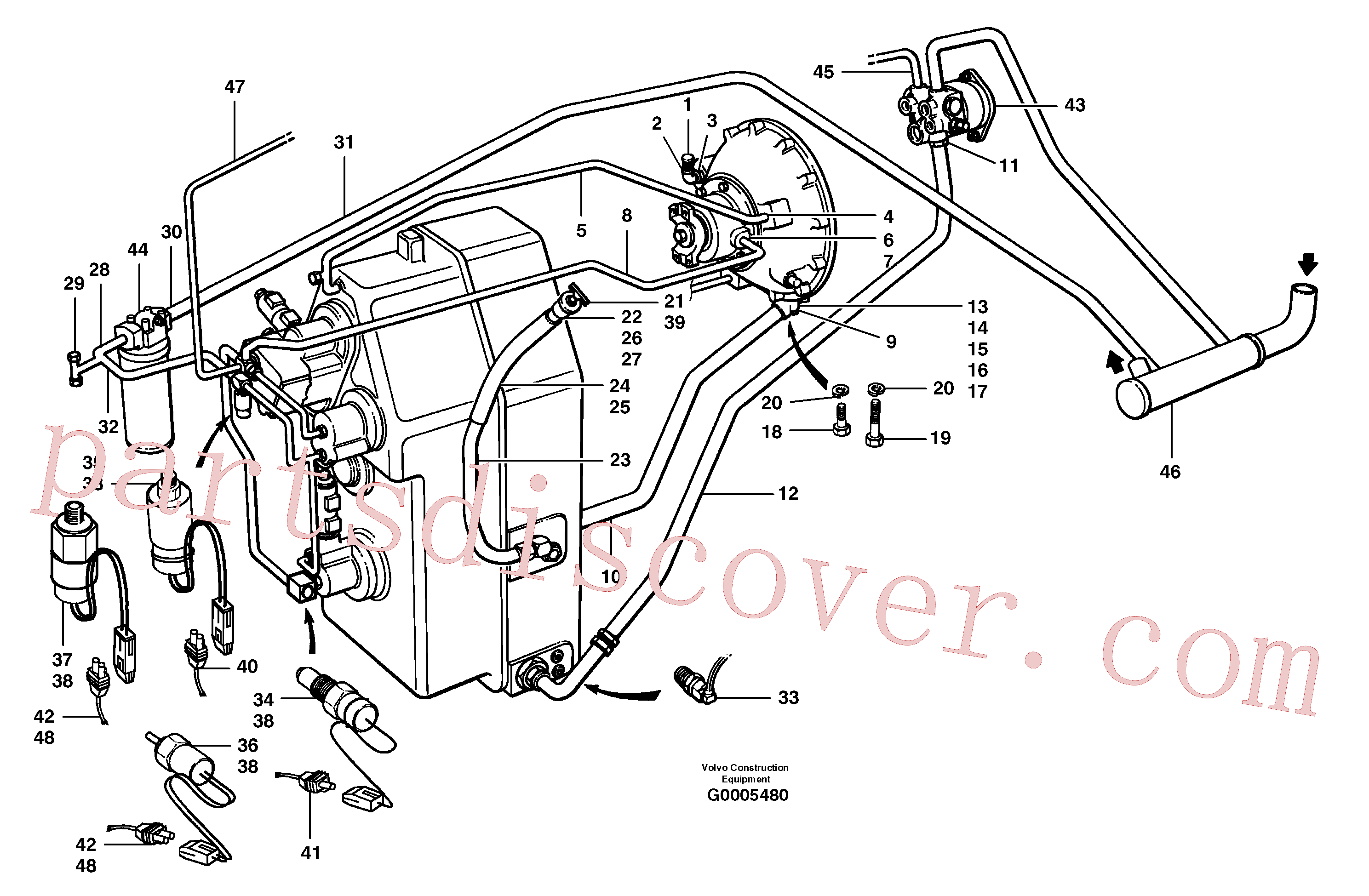 CH30A-06ZI for Volvo Transmission hydraulic circuit(G0005480 assembly)