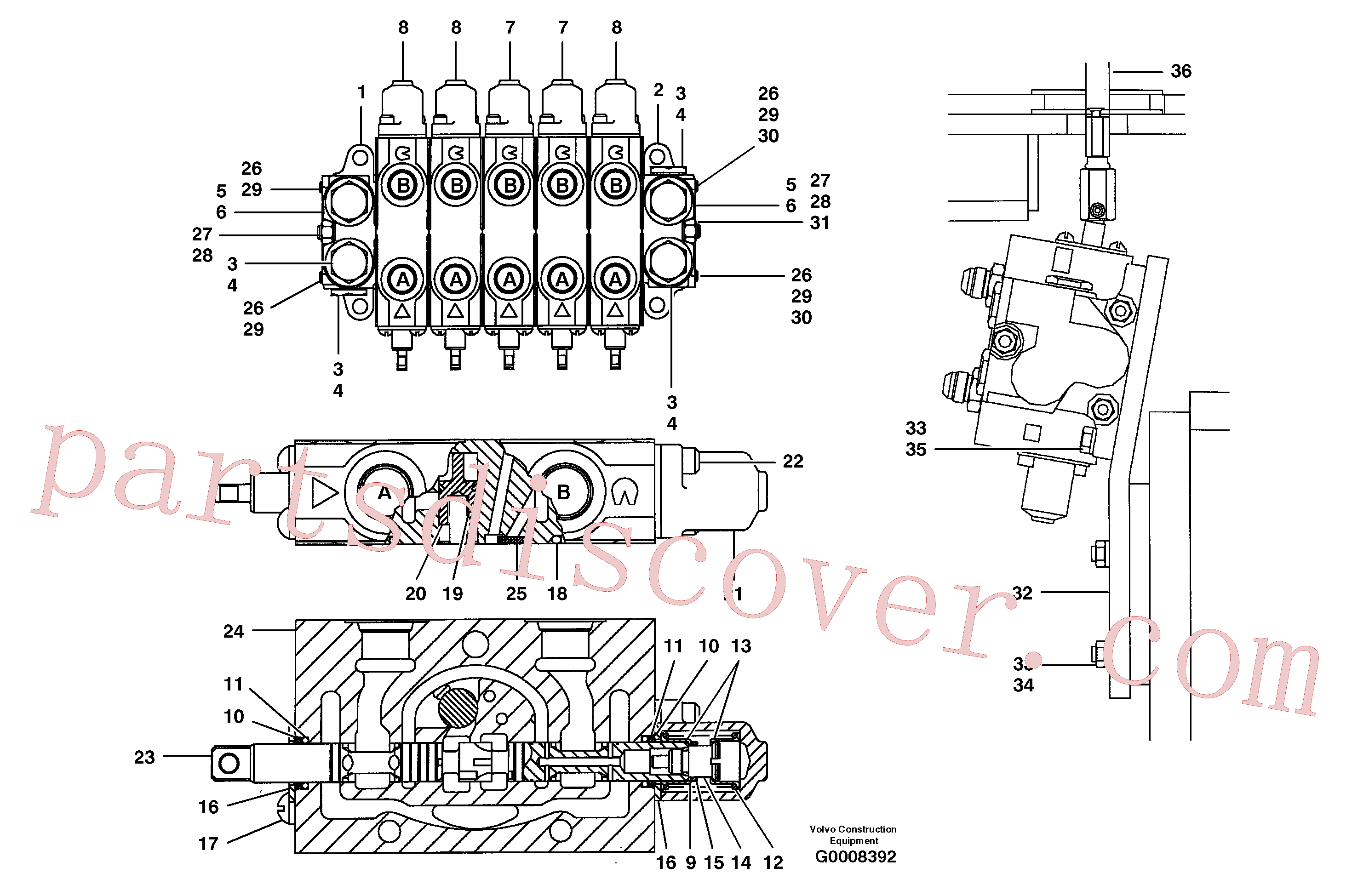 CH30A-06ZI for Volvo Auxiliary manifold valve - 5 bank(G0008392 assembly)