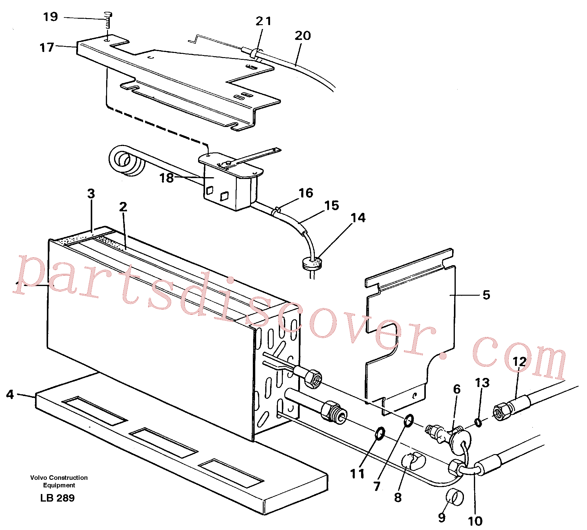 ZM3537507 for Volvo Evaporator with fitting parts, cooling agent R134a(LB289 assembly)