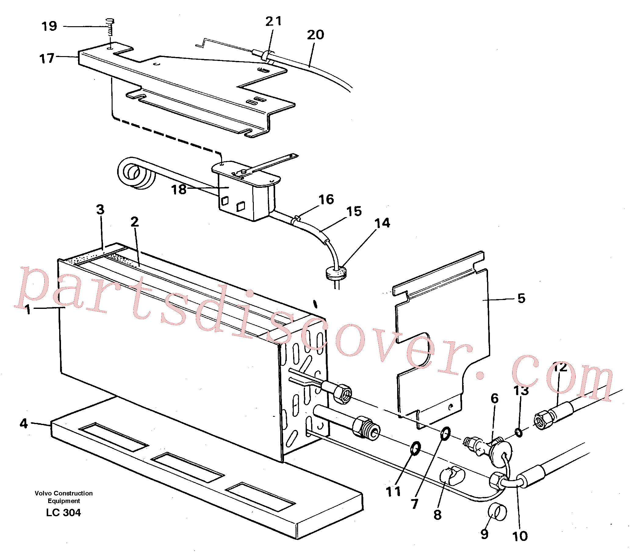 VOE14247154 for Volvo Evaporator with fitting parts, cooling agent R134a(LC304 assembly)