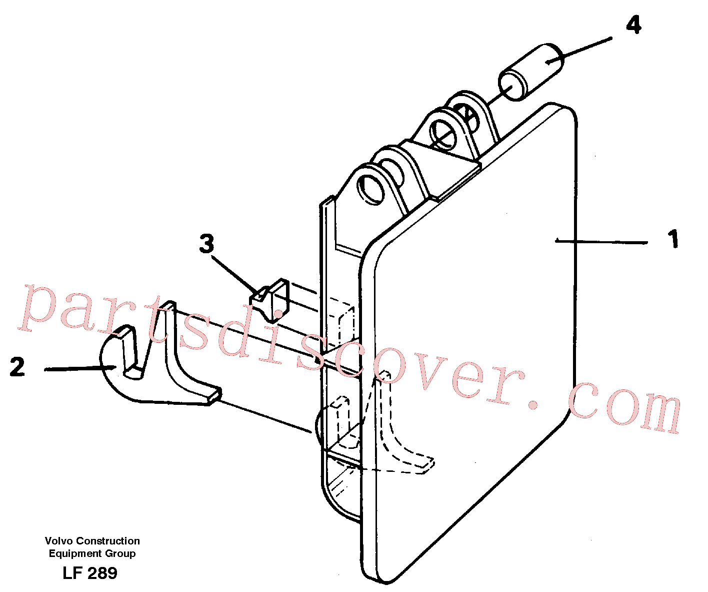 VOE14254671 for Volvo Hammer plate(LF289 assembly)