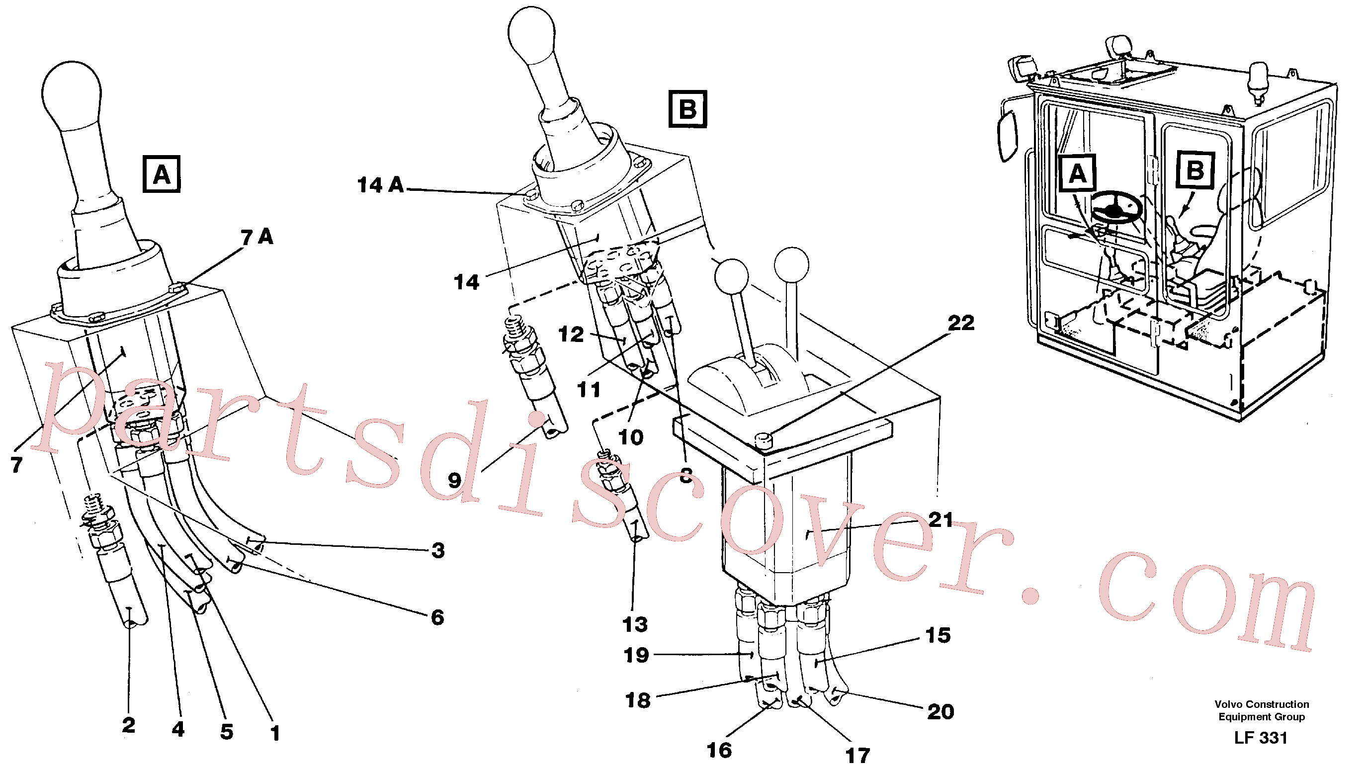 VOE14250300 for Volvo Joy Stick Left and Right(LF331 assembly)