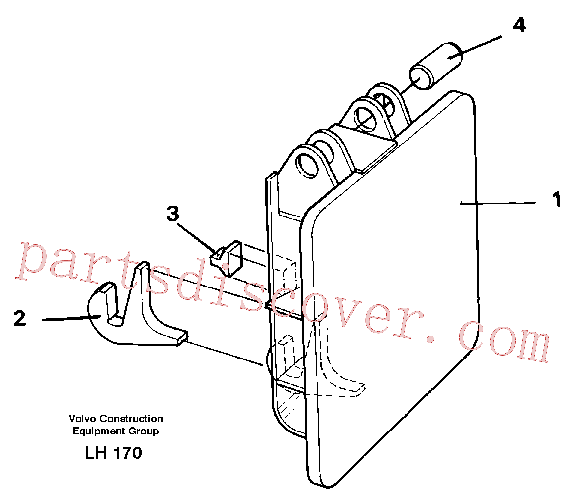VOE14254671 for Volvo Hammer plate(LH170 assembly)