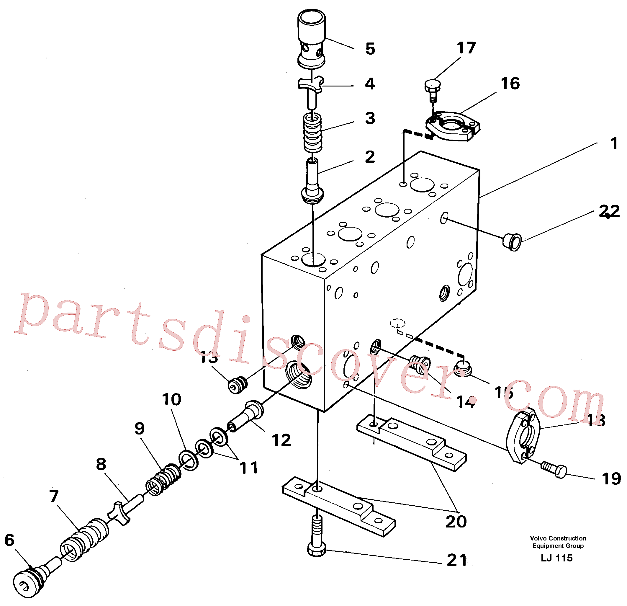 VOE14268263 for Volvo Connection board(LJ115 assembly)
