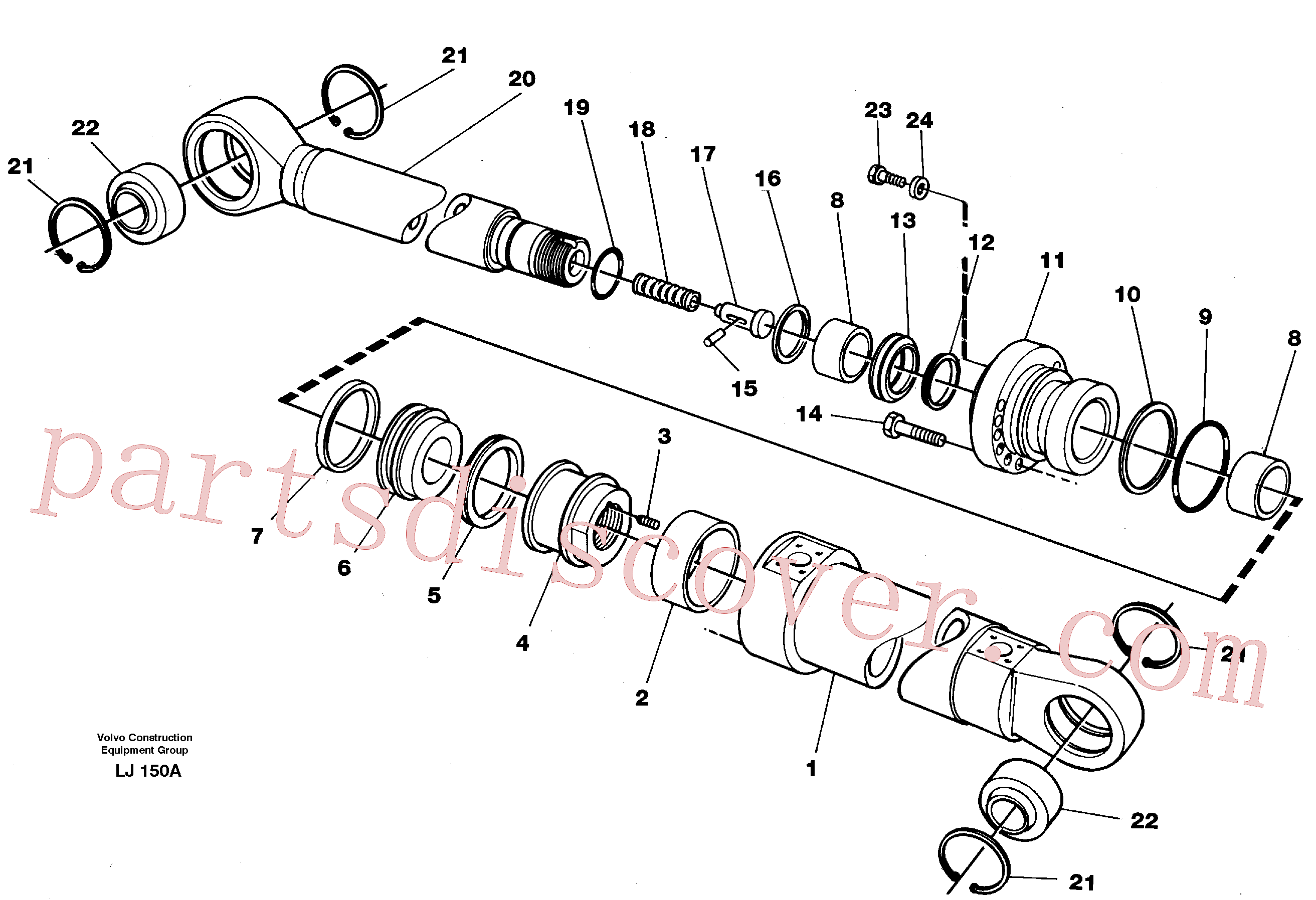 VOE4780220 for Volvo Bucket cylinder(LJ150A assembly)