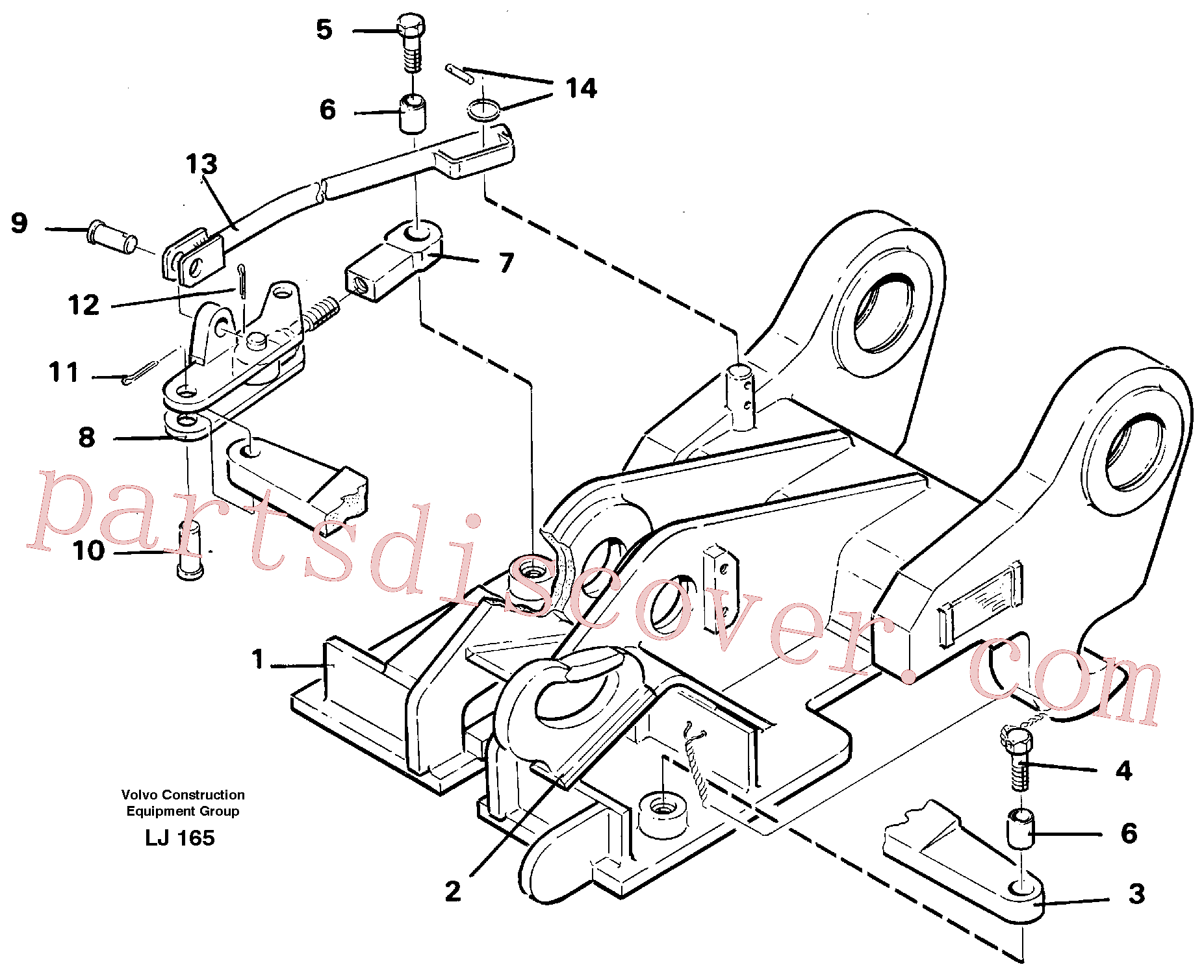 VOE14054560 for Volvo Quickfit, mechanical(LJ165 assembly)