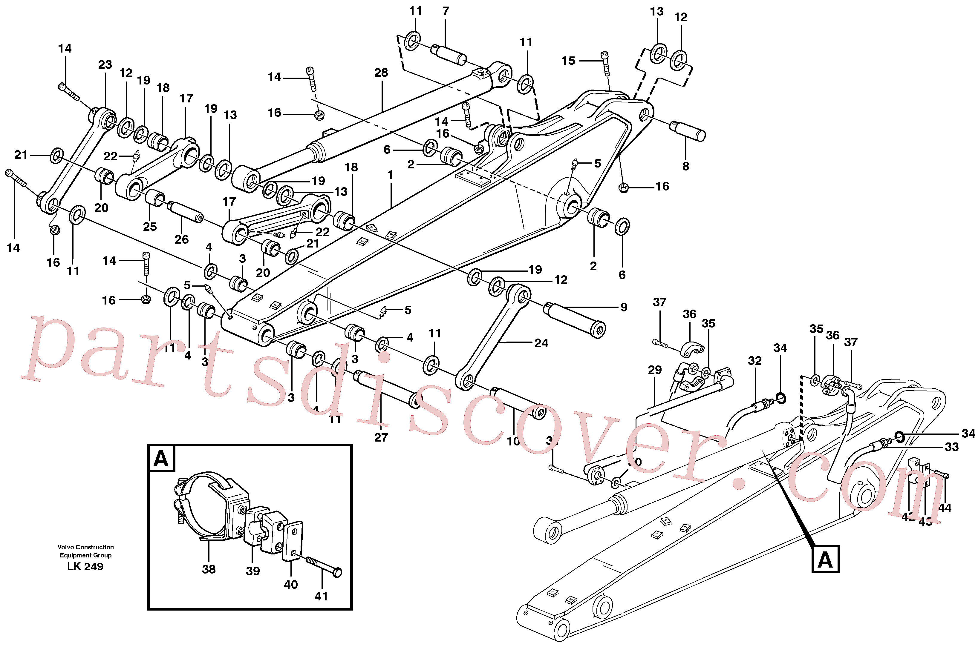 VOE14370922 for Volvo Dipper arm incl. connect.(LK249A assembly)