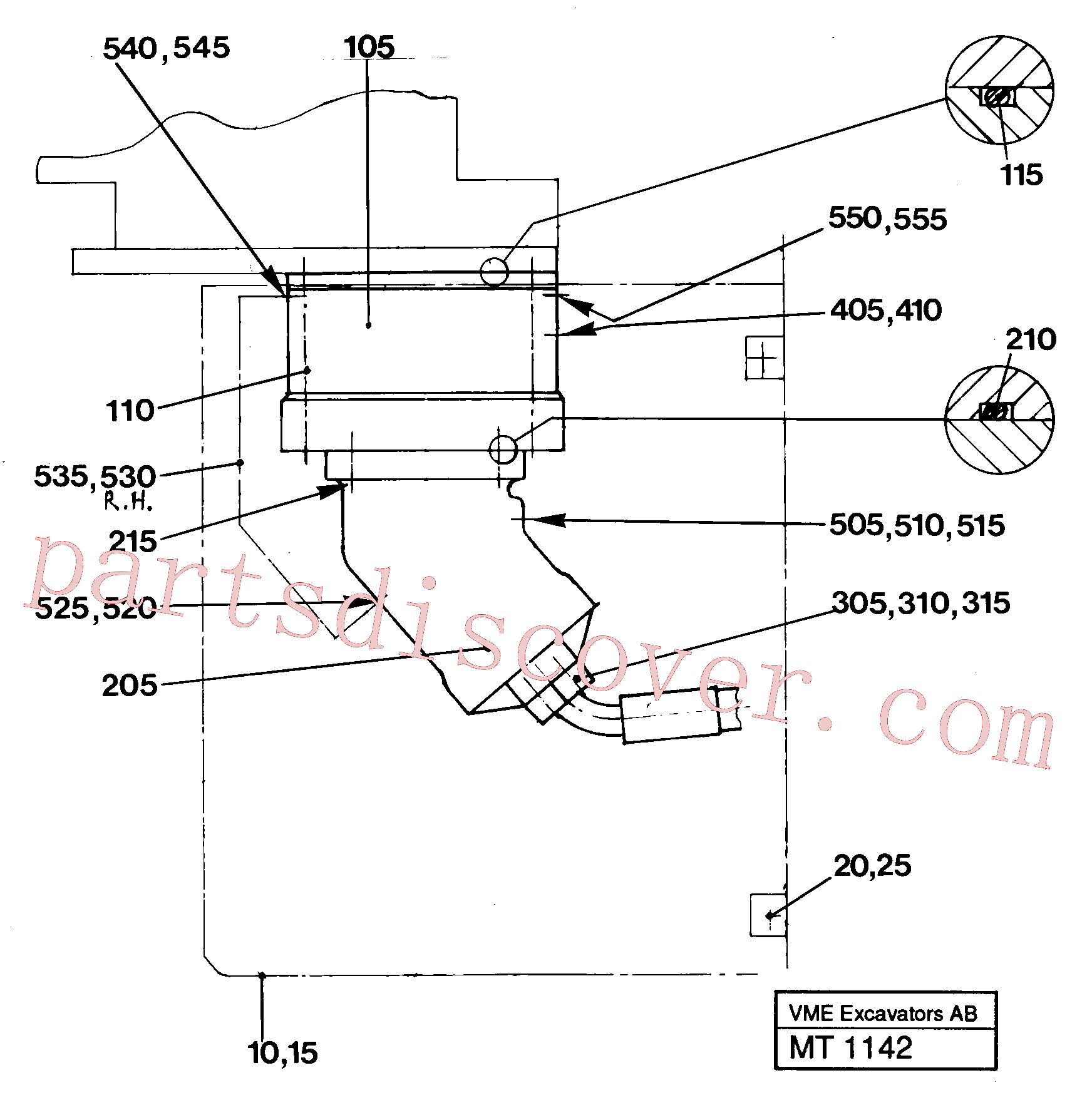 VOE925267 for Volvo Hydraulics in undercarriage(MT1142 assembly)