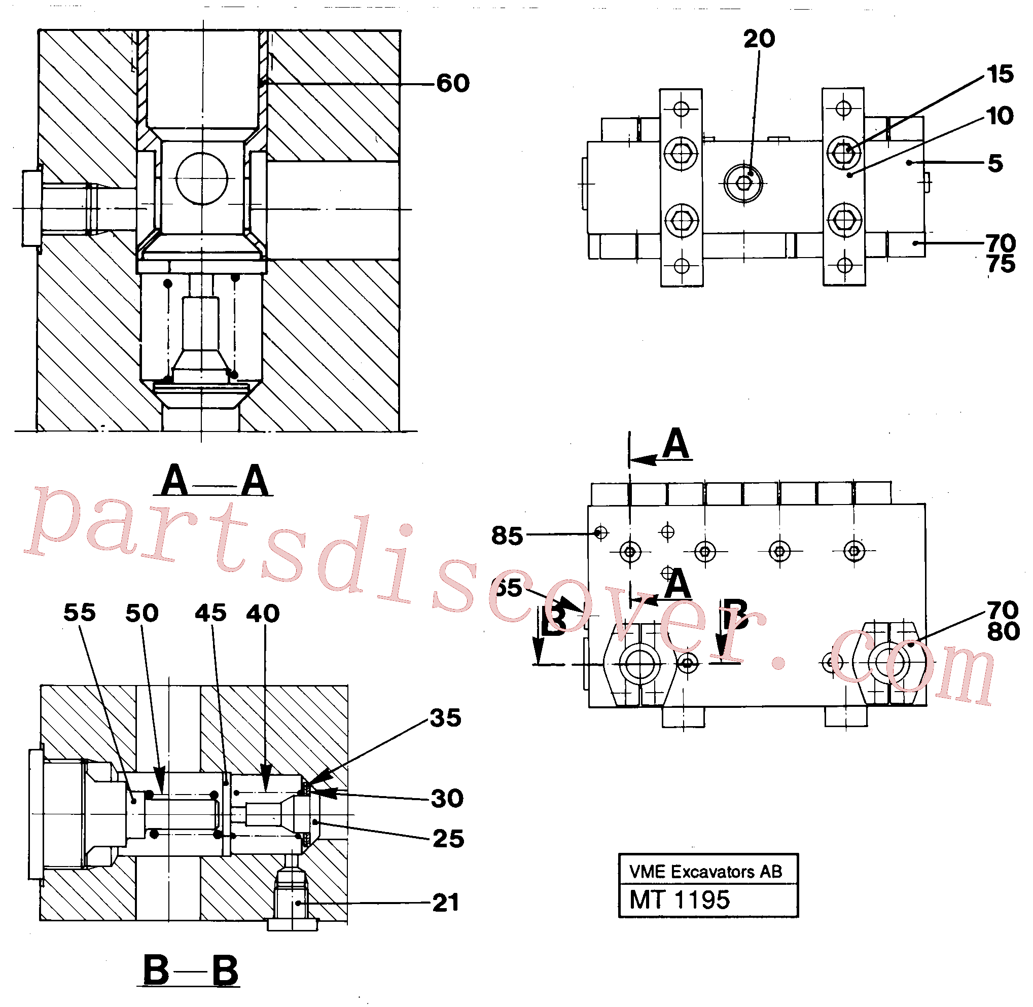 VOE14048189 for Volvo Connection board(MT1195 assembly)