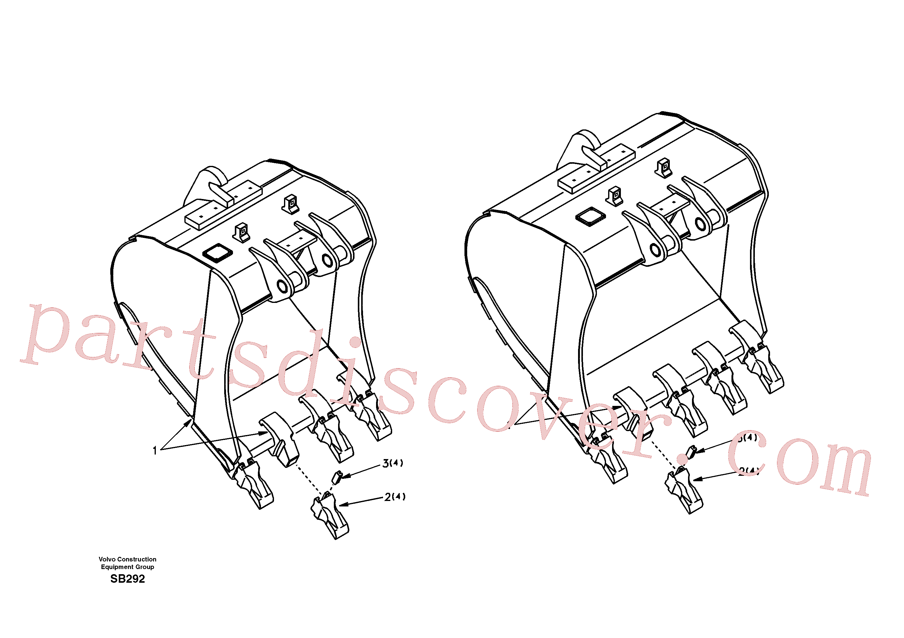 VOE14346176 for Volvo Buckets for Quickfit(SB292 assembly)