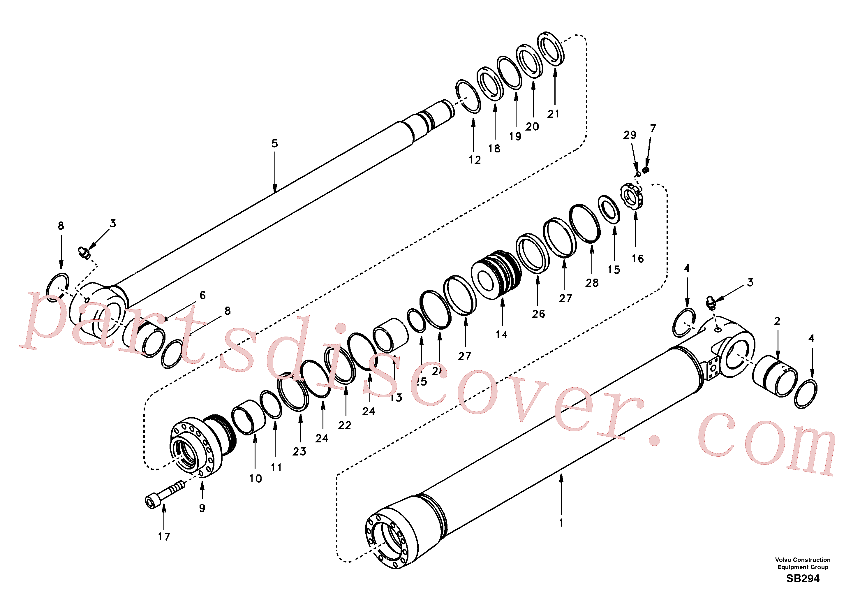 SA9568-01300 for Volvo Bucket cylinder(SB294 assembly)