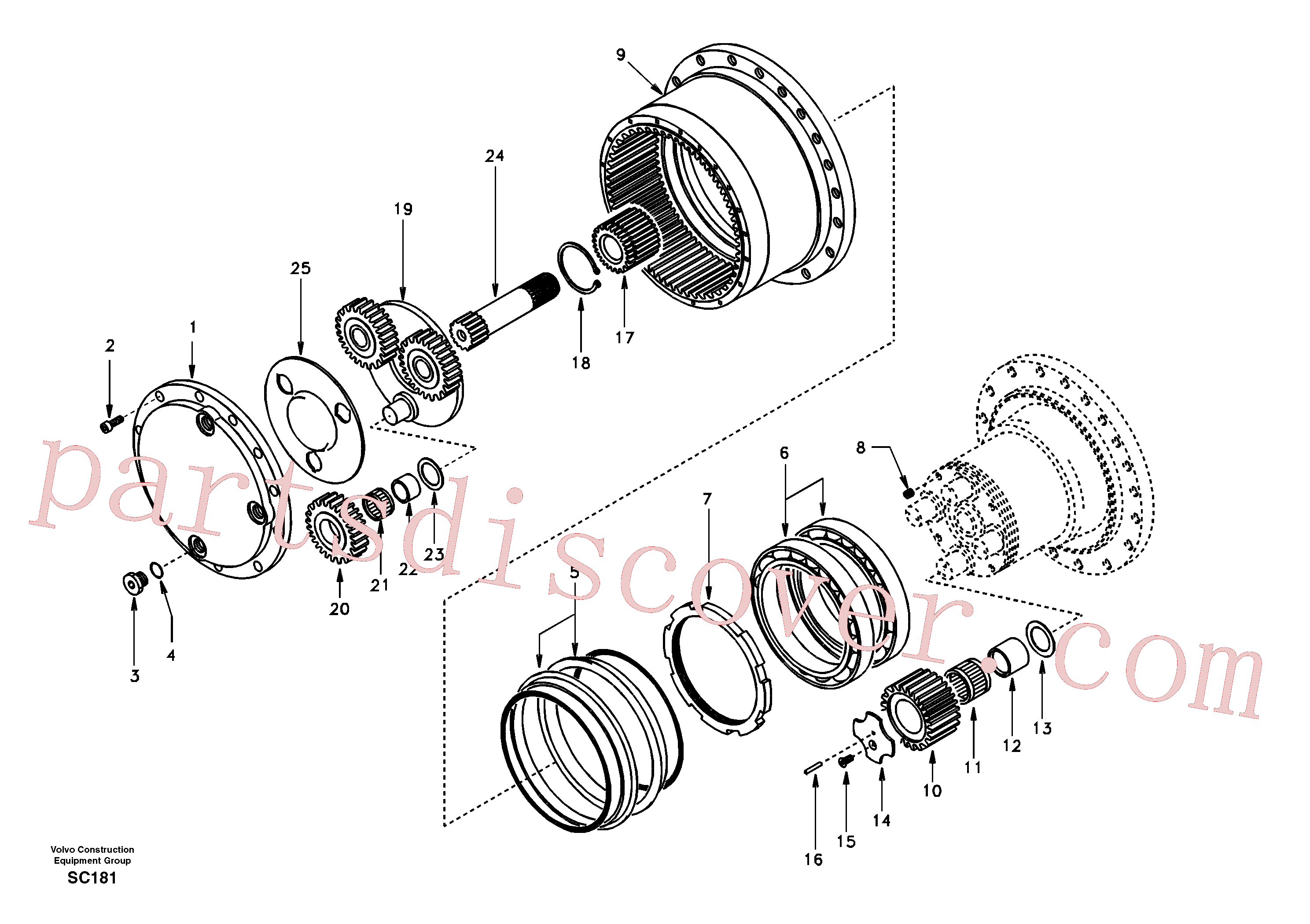 SA8230-32490 for Volvo Travel gearbox(SC181 assembly)