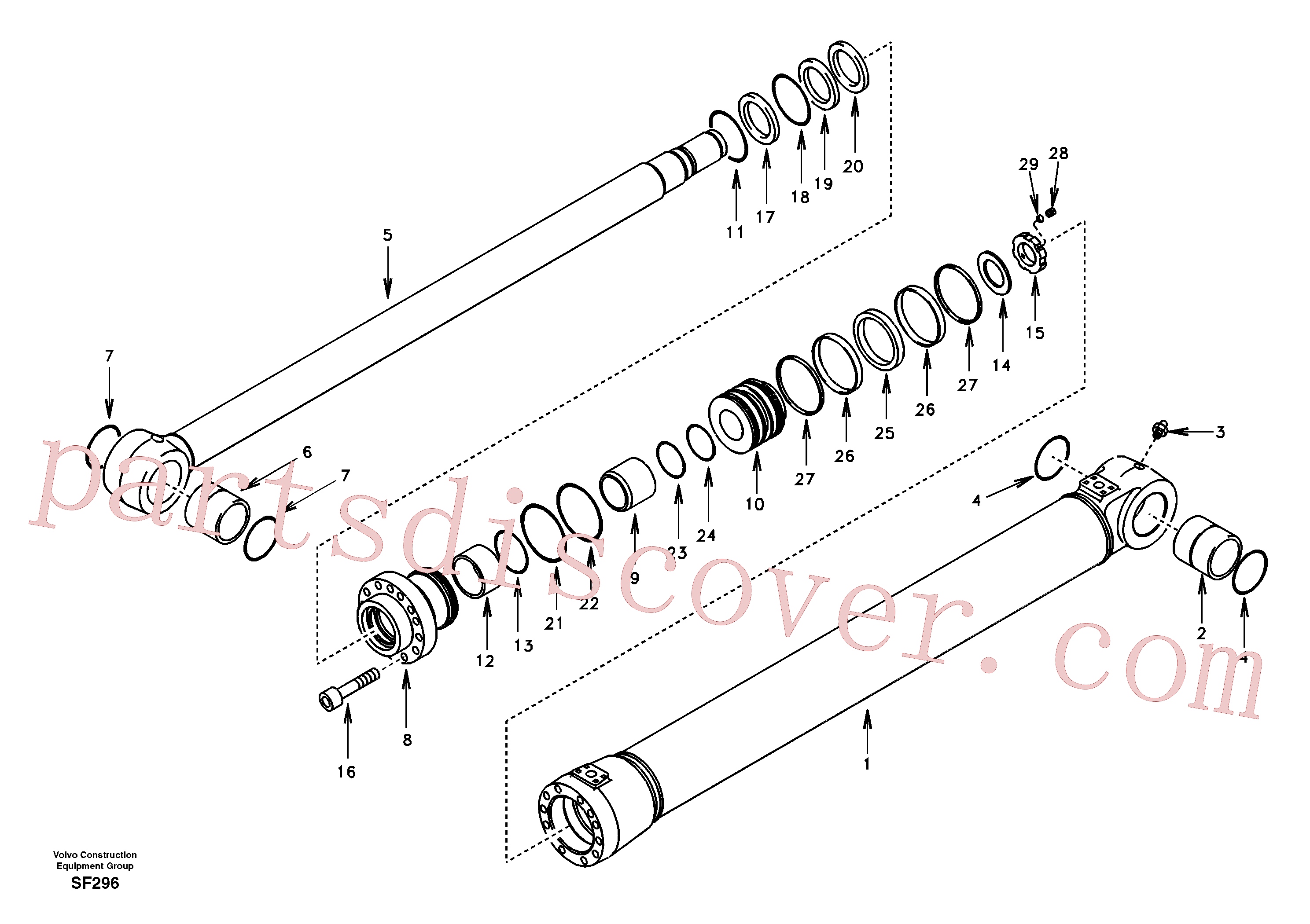 SA1146-05720 for Volvo Boom cylinder(SF296 assembly)