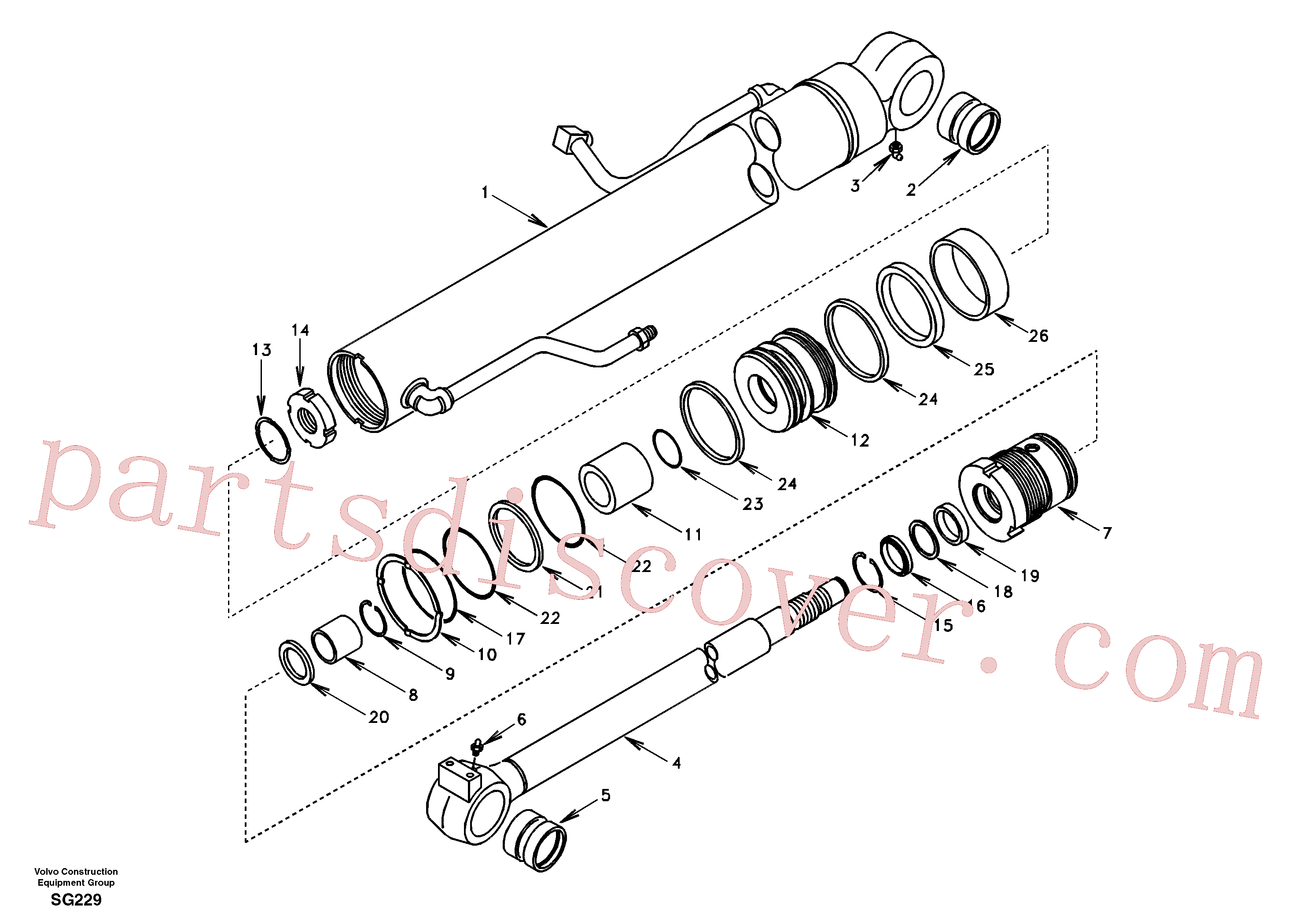 SA1146-07860 for Volvo Boom cylinder(SG229 assembly)