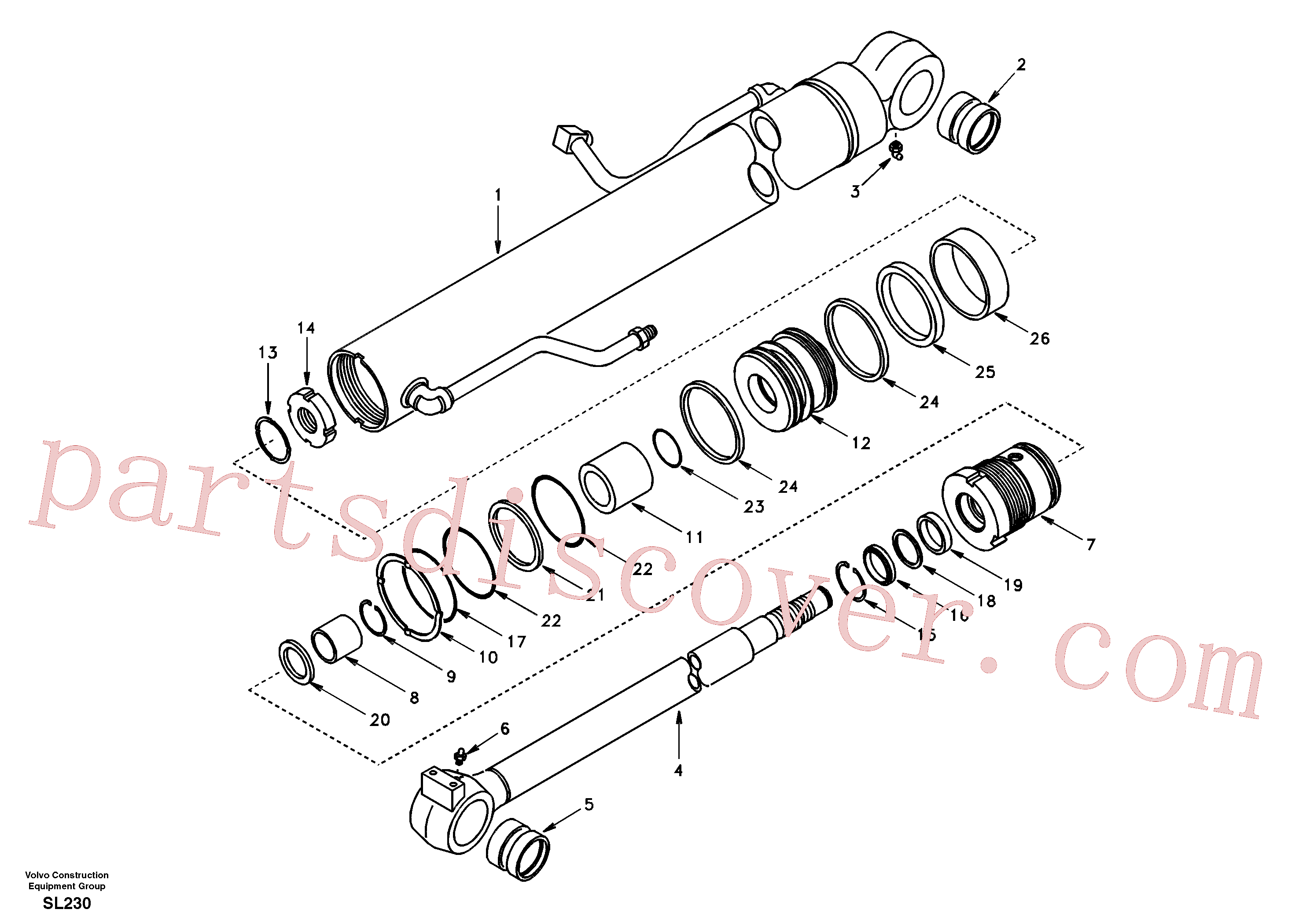 SA1146-07860 for Volvo Boom cylinder(SL230 assembly)