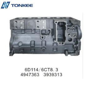 High power density 6D114 6CG8.3 4947363/3939313  engine cylinder body & cylinder block  in stock